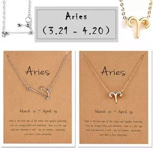 Aries Zodiac Sign and Constellation Necklace Duo